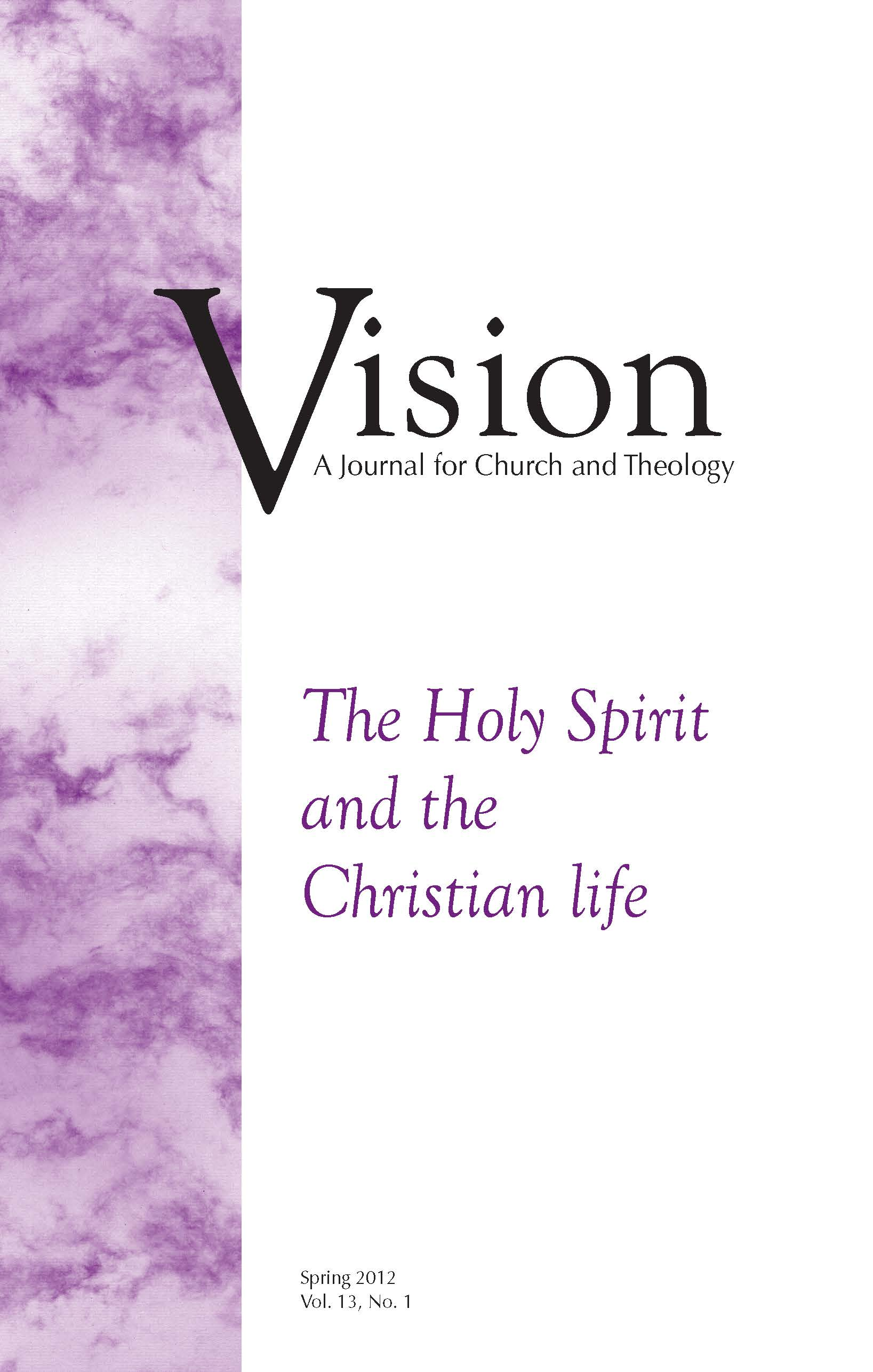 vision cover the holy spirit and the christian life